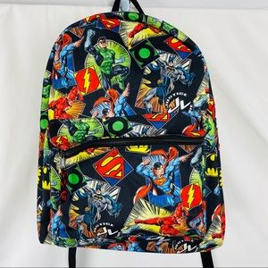 Justice League Comic Print Backpack